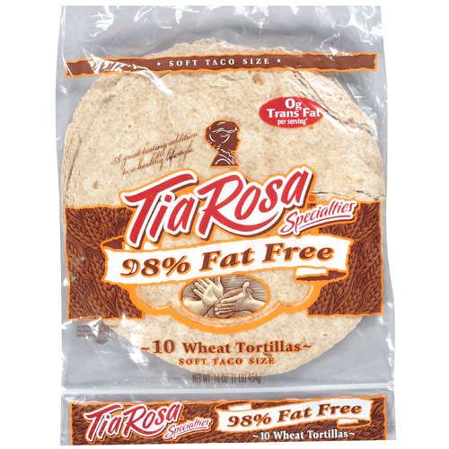Tia Rosa Specialties: Tortillas Wheat Soft Taco Size Bread, 16 oz