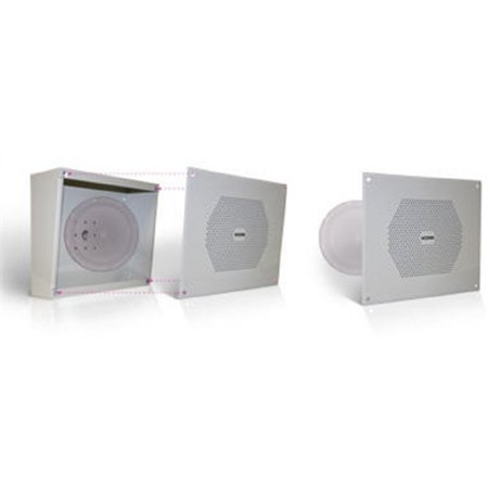 Valcom Vandal Resistant Wall Speaker One Way Includes V-9807 Enclosure, 8-Inch V-9852 Vandal Resistant Enclosure