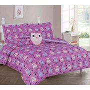 Full Owl S Bedding Set Beautiful Microfiber Comforter With Furry Friend And Sheet