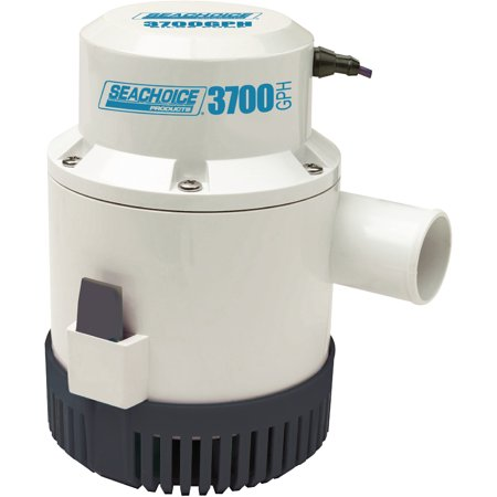 Seachoice 12V Submersible Bilge Pump 3700 Gph With 1 1 2  Ports