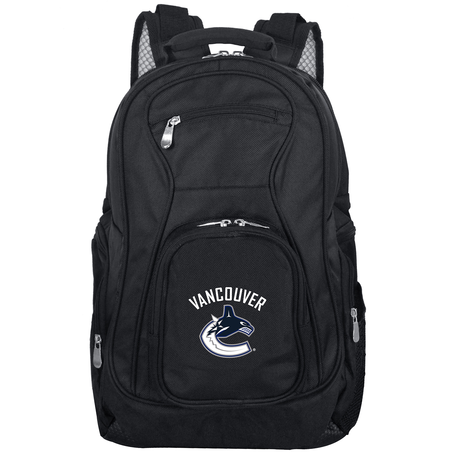 "Vancouver Canucks 19"" Laptop Travel Backpack - Black - No Size"