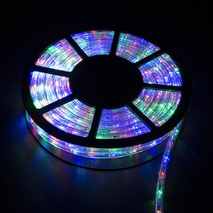 100' Ft Xmas LED Rope Lights 110V Yard Home Party Decorative In Outdoor Lighting -RGB by Walcut