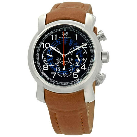 Swiss Gmt Alarm - Ben and Sons Mercury GMT Chronograph Men's Watch 10013-03-BLOA-CS