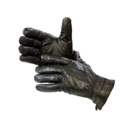 Epoch Men's Leather Thinsulate Lined Gloves Black Large FREE 2 DAY (Black Leather Gloves)
