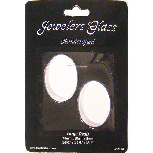 Wholesalers USA 2 Piece Large Oval Jeweler's Glass Set