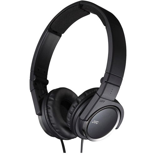JVC 3-Way Foldable On Ear Headphones, Black or White