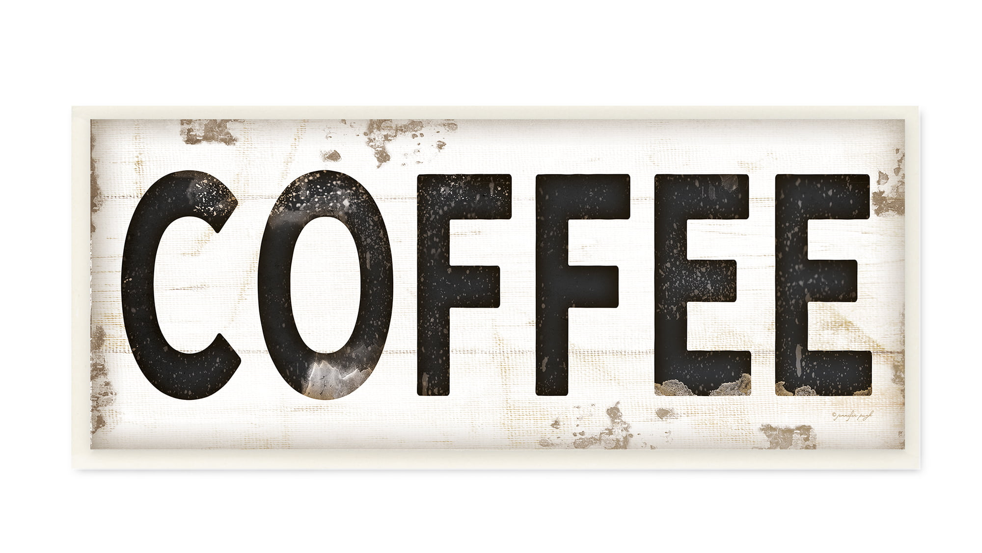 The Stupell Home Decor Collection COFFEE Typography Vintage Sign Wall Plaque Art, 7 x 0.5... by Stupell Industries