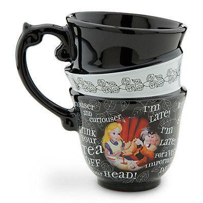 disney parks alice in wonderland three teacups drink me mug new