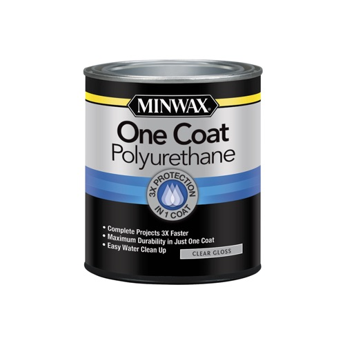 Minwax One Coat Polyurethane Gloss, 1-Qt