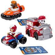 Paw Patrol Racers 3-Pack Vehicle Set, Ryder, Zuma, Marshall