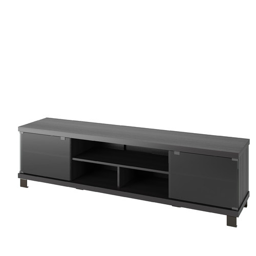 CorLiving B-207-CHT Holland 70.75 in. Extra Wide TV / Component Bench - Ravenwood Black