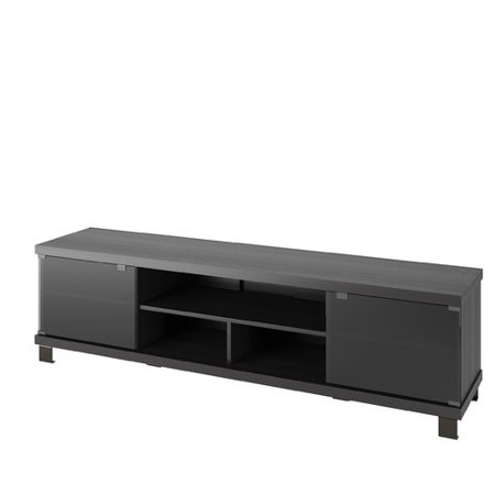 CorLiving B-207-CHT Holland 70.75 in. Extra Wide TV / Component Bench – Ravenwood Black