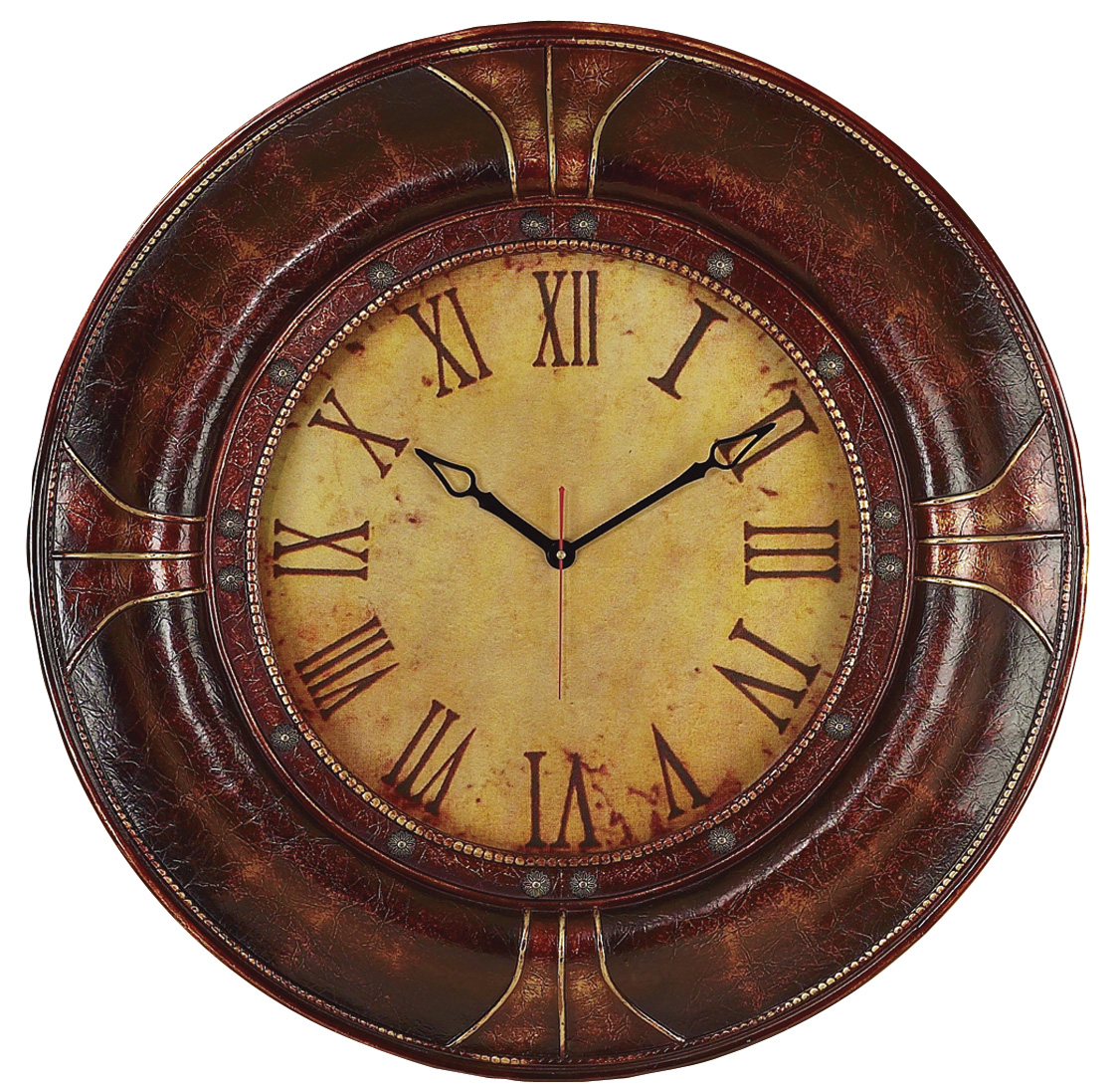 Old Fasioned Leather Wall Clock