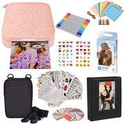 "HP Sprocket Portable 2x3"" Instant Photo Printer (Blush Pink) Starter Bundle"