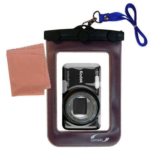 Gomadic Waterproof Camera Protective Bag suitable for the Kodak EasyShare M583  -  Unique Floating Design Keeps Camera Clean and Dry