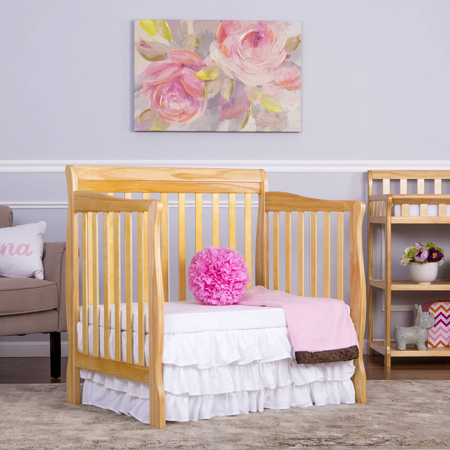 crib view to convertible cribs front with delta mini classic children twin bed mattress bianca products