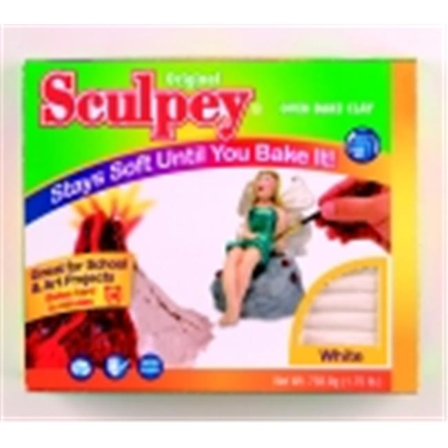 Sculpey Polymer Modeling Compound Clay - 1.75 Lbs. - White