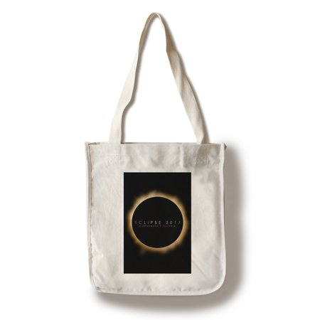 Carbondale Illinois Halloween (Carbondale, Illinois - Eclipse 2017 - Lantern Press Artwork (100% Cotton Tote Bag -)