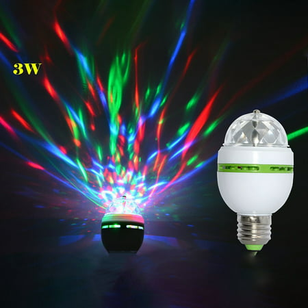 E27 3W 100-240V Colorful Auto Rotating RGB LED Bulb Stage Light Party Lamp Disco for Party Festival Wedding (Best Wedding Stage Decoration)
