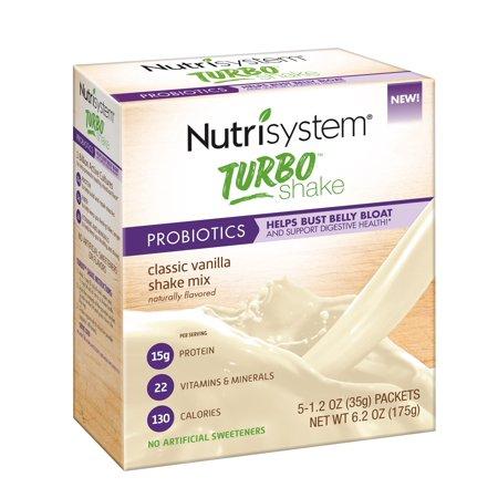 - Nutrisystem Turbo Vanilla Shake Mix, 1.2 Oz, 5 Ct