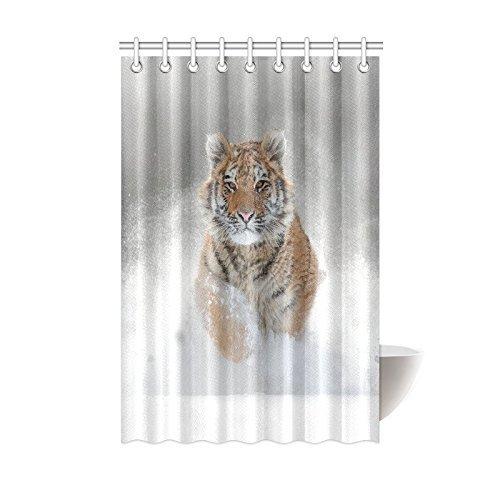 Animal Ferocious Tiger Shower Curtain Polyester Fabric Bathroom Set Accessories