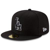 Los Angeles Dodgers New Era B-Dub 59FIFTY Fitted Hat - Black