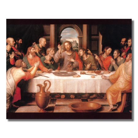 The Last Supper Jesus Christ Wall Picture Art (Last Supper Collector Plate)
