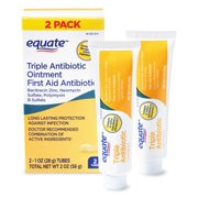 Equate First Aid Triple Antibiotic Ointment, 2 Oz, 2 Count