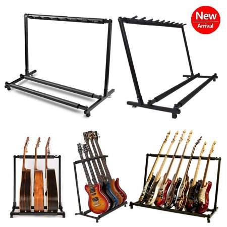 Guitar Folding Rack Multiple Guitar Folding Rack Storage Organizer Electric Acoustic Stand Holder