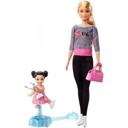 Barbie Ice-Skating Coach & Student Doll with Turning Mechanism