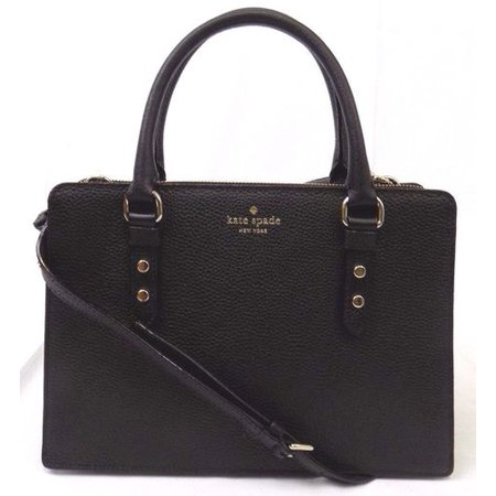 Kate Spade Black Leather (NWT KATE SPADE LISE MULBERRY STREET BLACK LEATHER SATCHEL CROSSBODY BAG HANDBAG)