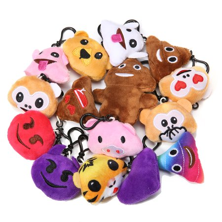 34Pack Emoji Keychain, Emoji Party Favors Mini and Cute Plush Pillows, Emoji Party Supplies for Kids Christmas, Birthday, Classroom - Party Supplies Miami