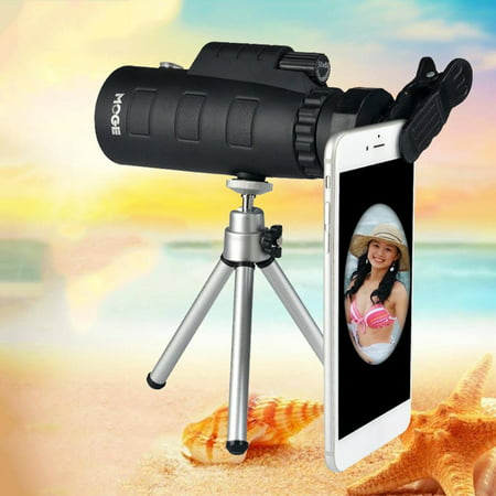 50X60 Zoom Monocular Optical HD Lens Telescope With Tripod & Mobile Phone Clip - image 6 of 10