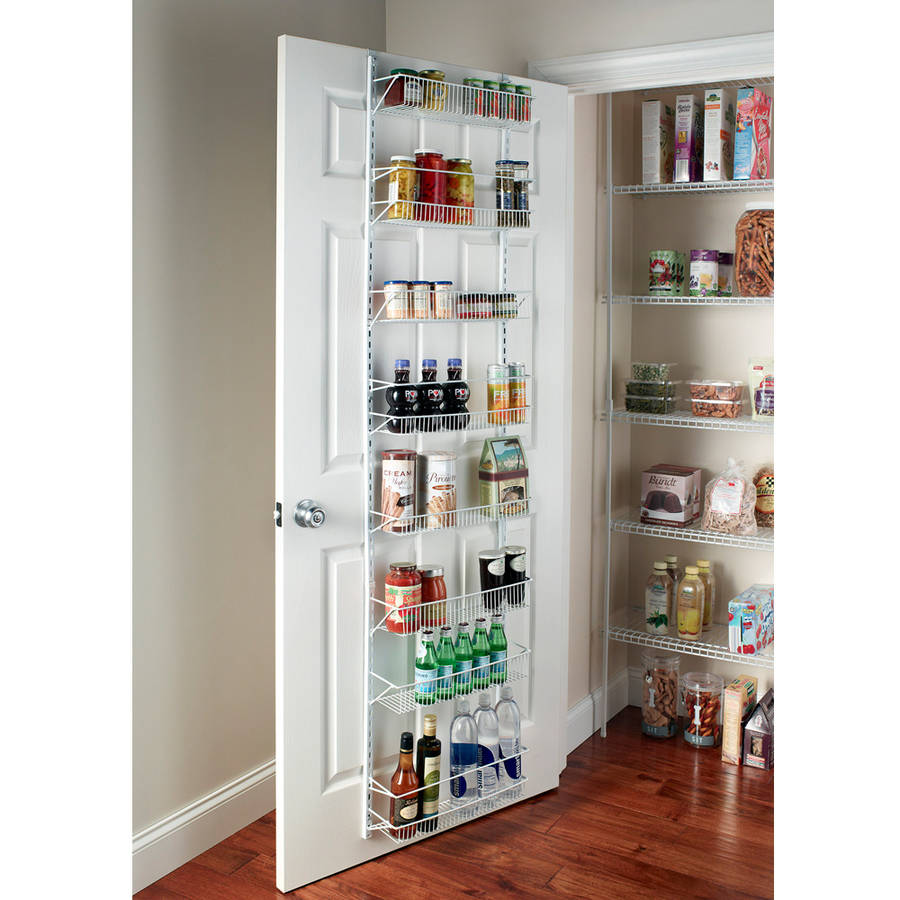 1adjustable over the door shelves kitchen pantry organizer for Kitchen closet