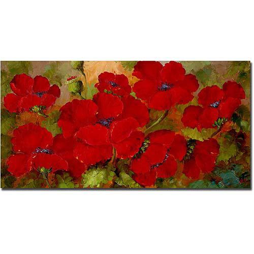 "Trademark Fine Art ""Poppies"" Canvas Art by Rio"