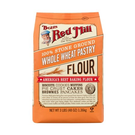 (2 Pack) Bobs Red Mill Whole Wheat Pastry Flour, 48 Oz
