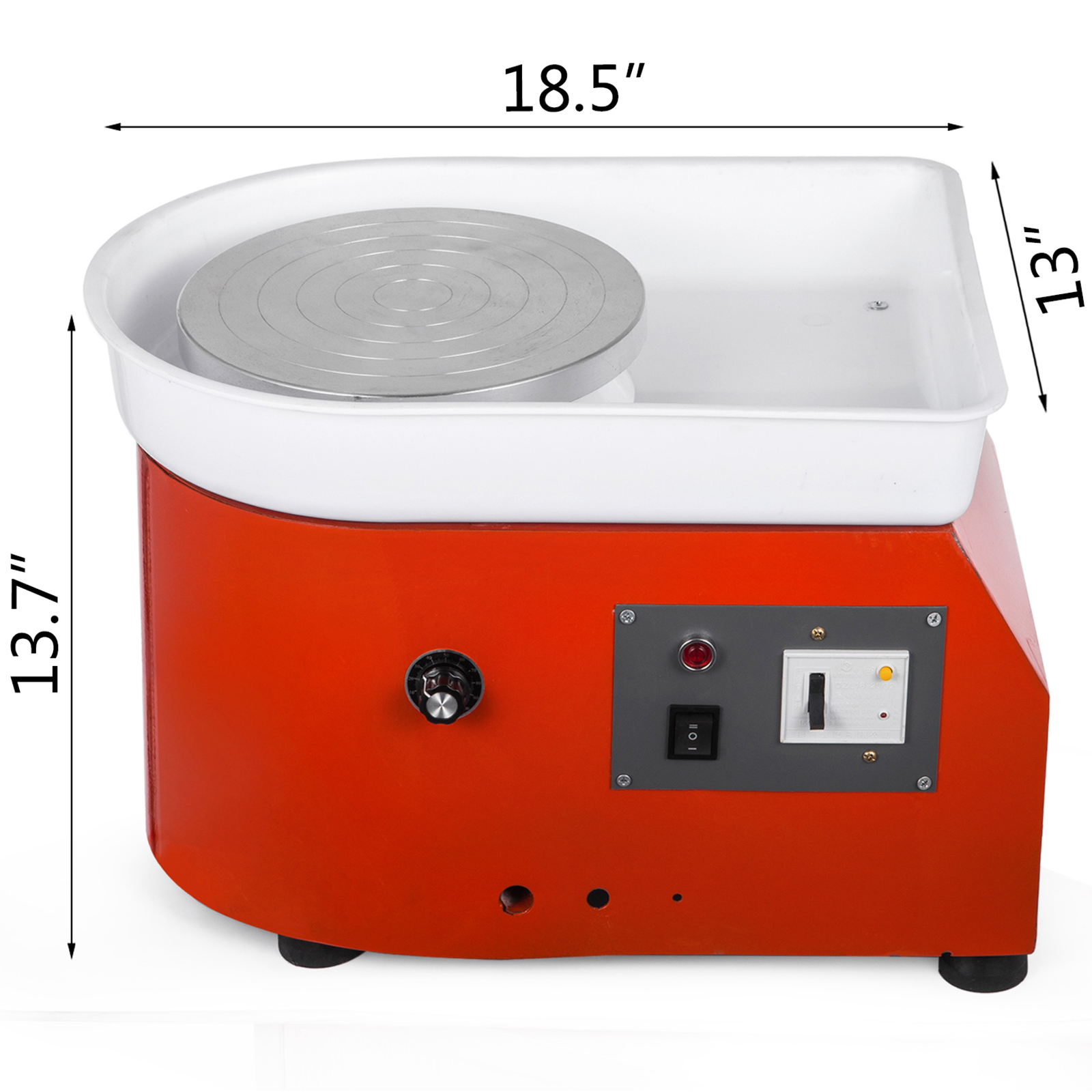 FORAVER Electric Pottery Wheel Ceramic Machine 25cm with Shaping Tool Kit Ceramic Wheel Machine Pottery DIY Kit Foot Pedal
