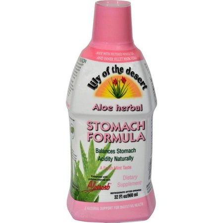 Lily Of The Desert Aloe Herbal Stomach Formula Fresh Mint - 32 Fl Oz Aloe Stomach Plus Formula
