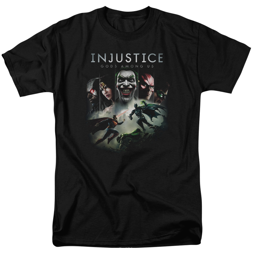 Injustice Gods Among Us Key Art Mens Short Sleeve Shirt