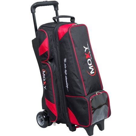 Moxy Dually Four Ball Inline Roller Bowling Bag - Black/Red - 4 Ball Bowling Bags