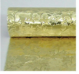 Deep Patterned Camelot Gold Foil Food Wrap Wrapping Paper Large Roll