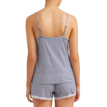 JV Apparel Women's and Women's Plus Knit 3-Piece Short Cami and Robe Sleep Set