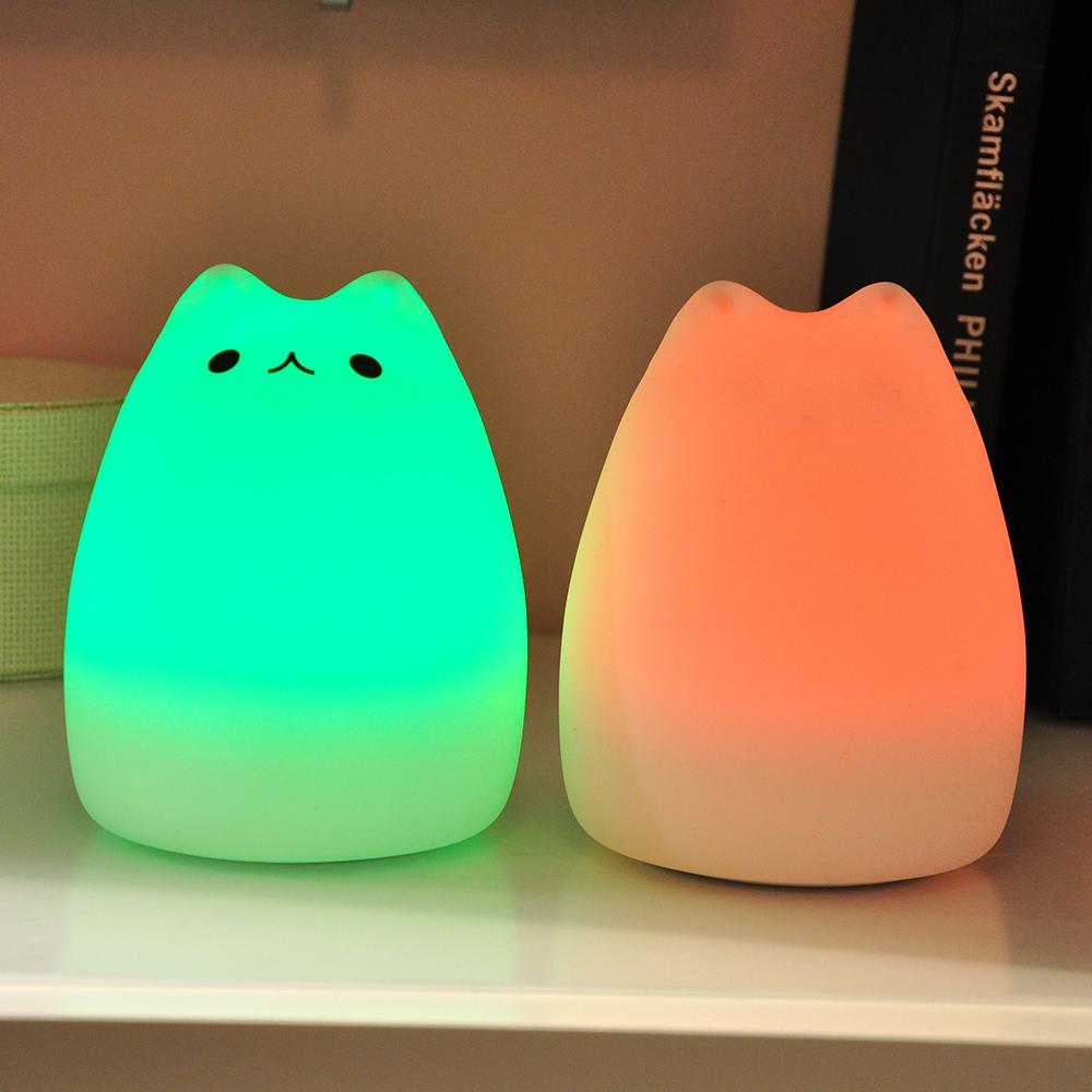 LED Night Light Warm White & RGB Multi Color USB Port Portable Silicone Soft Baby Nursery... by GlowSol