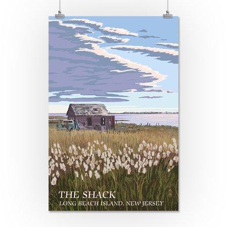 Long Beach Island, New Jersey - The Shack - Lantern Press Artwork (16x24 Giclee Gallery Print, Wall Decor Travel Poster)