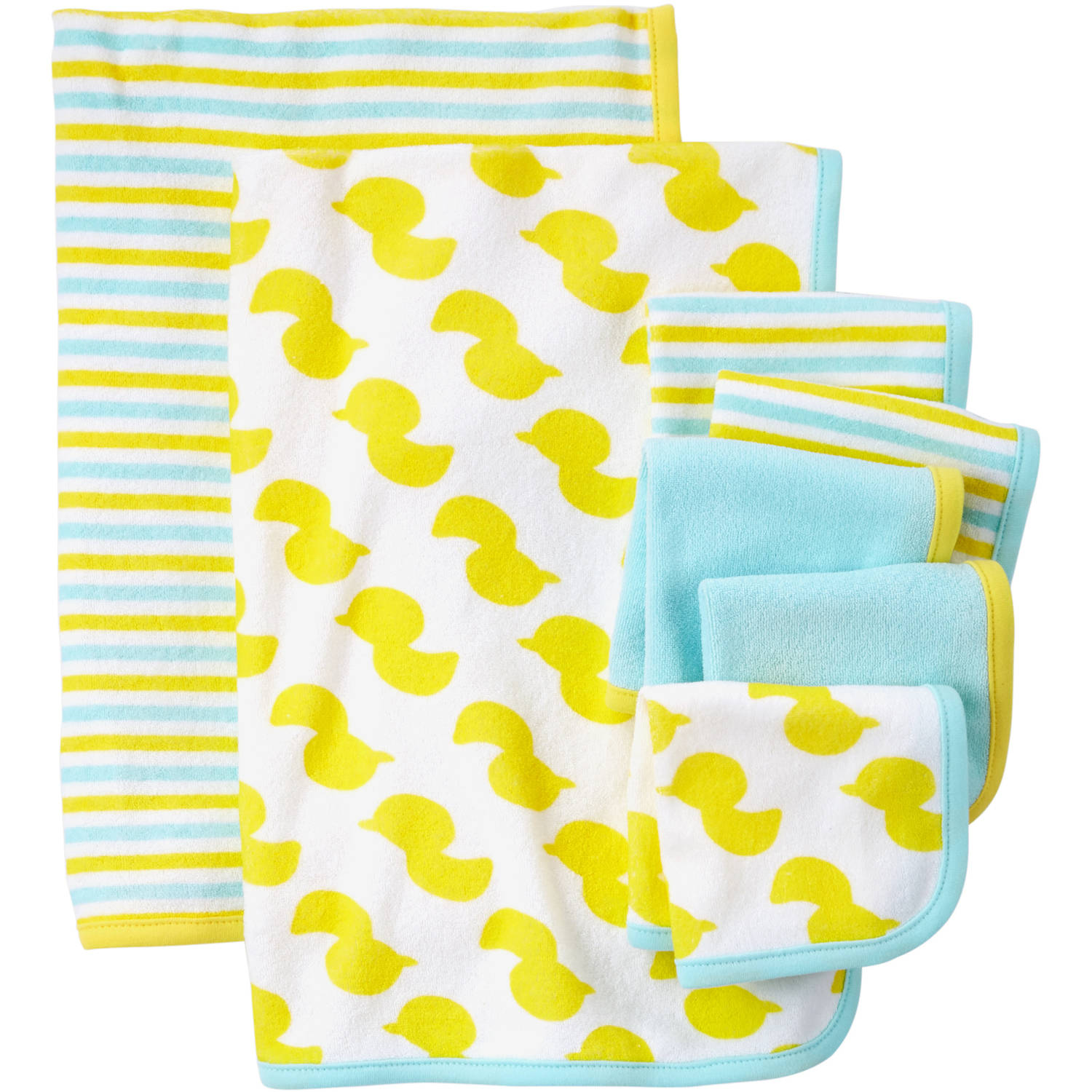 Child Of Mine Made By Carter's Newborn Baby Washcloth And Towel Set, 7 Pack