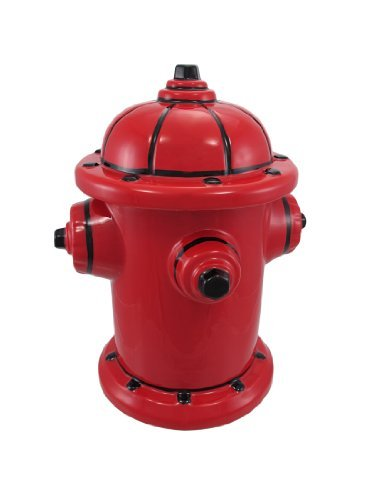 Fire Hydrant Ceramic Cookie Jar Fireman Firefighter Home Supply Maintenance Store by HOME-APP