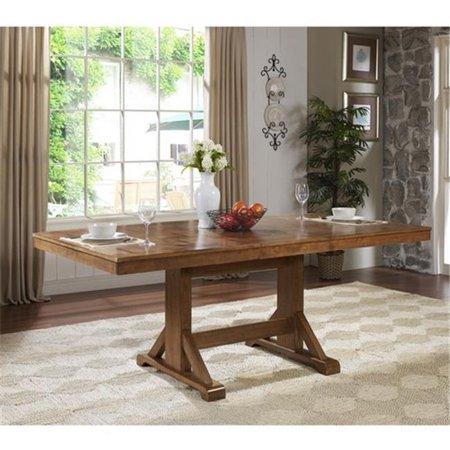 TW60WAB 60 X 30 In Antique Brown Wood Dining Table Walmartcom