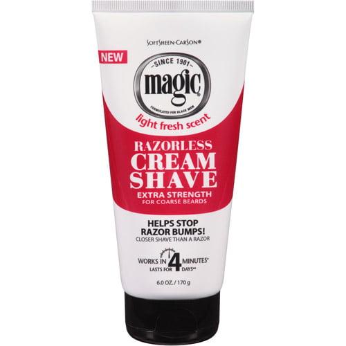 SoftSheen-Carson Magic Razorless Cream Shave - Extra Strength for Coarse Beards, 6 Oz
