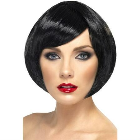 Babe Adult Costume Short Bob Black Wig for $<!---->