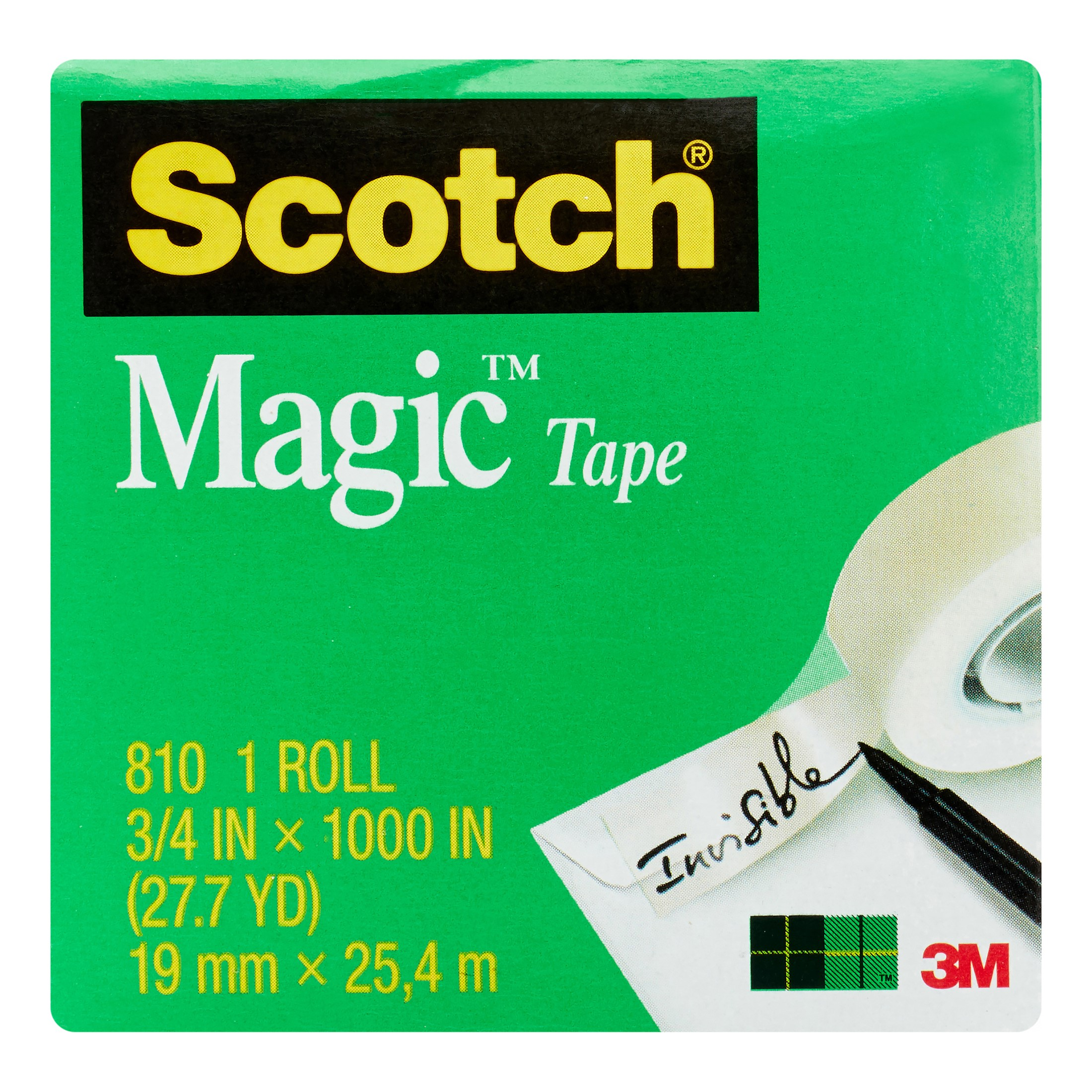 Scotch Magic Office Tape Refills, Clear, 12 Count